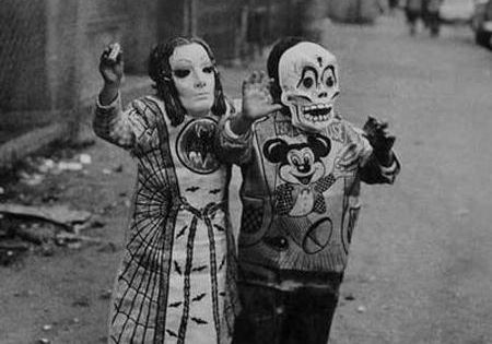 Step into my Attic, by Diane Arbus ~ vintage Halloween costumes photo...a