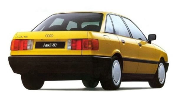 Audi 80 1986 1991 Yellow Car Classic European Cars Audi