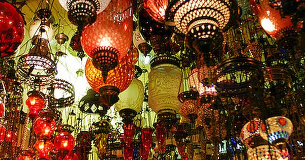 Hanging lamps at the Grand Bazaar of Istanbul, Turkey (by guzi4real). The