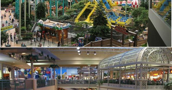 Mall of America, Minneapolis, MN (Over 500 stores, amusement park, aquarium, mini