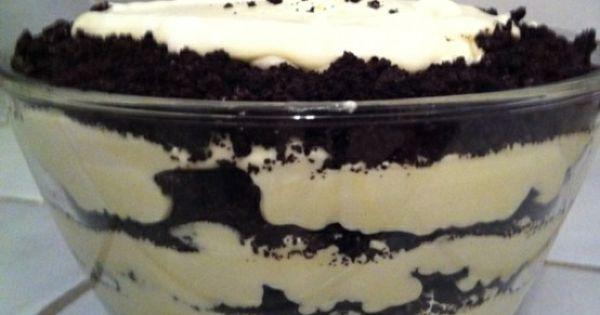 COOKIES AND CREAM ~ Oreo goodness: 1 bag Oreos, crushed 8oz cream