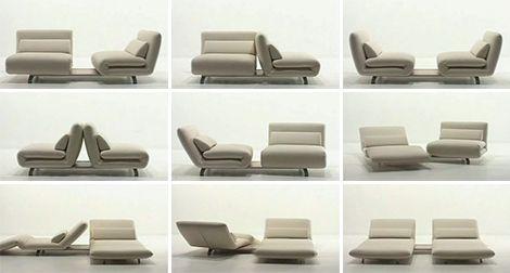 Double Swivel Recliner Sofa from Futura Le Vele sofa design in