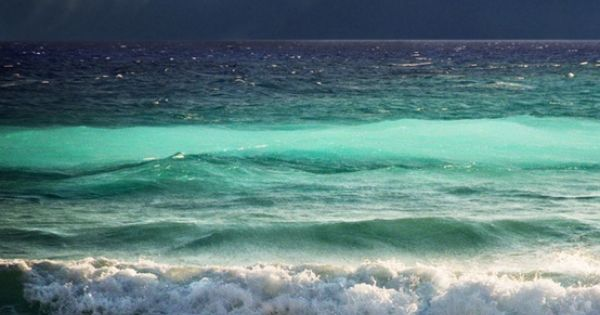 The beautiful different layers and colors of the ocean waves