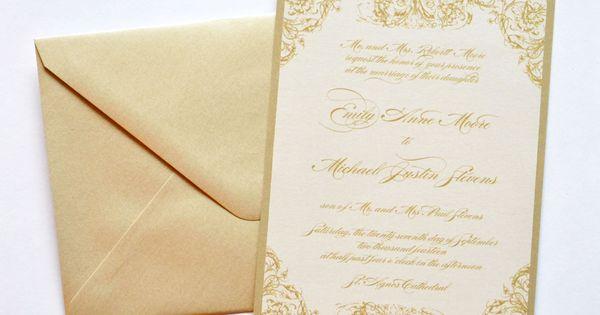 Ivory Wedding Invitation Kits: Gold Wedding Invitations, Gold And Ivory Wedding