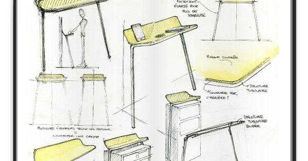rigole la console d 39 entr e par alix videlier sketches. Black Bedroom Furniture Sets. Home Design Ideas