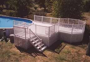 27 Round Pool Deck Plans 16 X 16 Deck W Octagon Plan 2124plt Decks Around Pools Pool Deck Plans Pool Decks