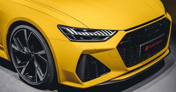 Vegas Yellow Audi Rs6 Avant With Carbon Exterior And Alcantara Interior Quattro Carbon Optics Package Audi Exclusive Rs6