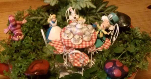 Alice In Wonderland Tea Party Tea Cup Garden Containers Fairy Gardens Terrariums