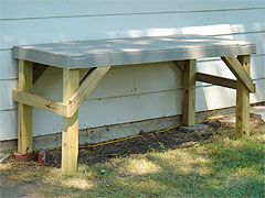 Outdoor Work Bench Outside Garage Workbench Diy Woodworking
