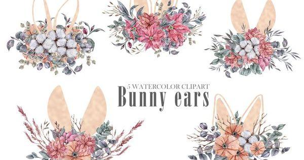Easter Bunny Ears Png Watercolor Rabbit Ears Clipart Baby Etsy In 2021 Easter Bunny Ears Bunny Ear Easter Bunny