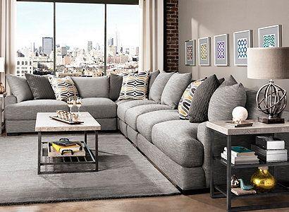 Leighton Contemporary Living Room Collection Design Tips Ideas