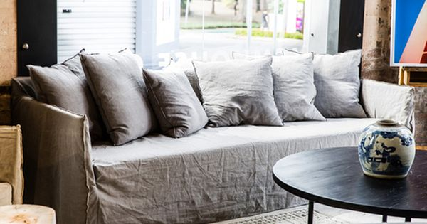 Joe Sofa With Arms By Mcm House Jpg Linen Couch Sofa Inspiration White Dining Room Furniture