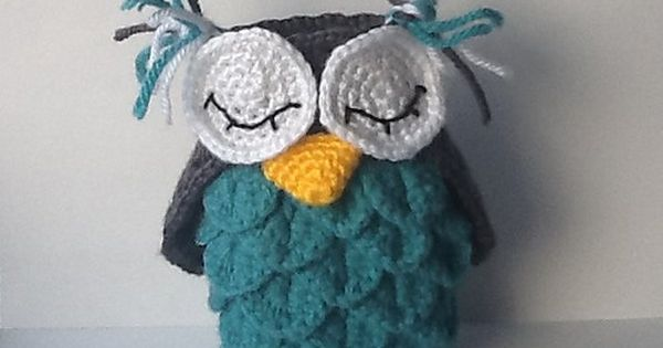 Crocodile Stitch Owl Holder - free crochet pattern! #crochet Yarn ...