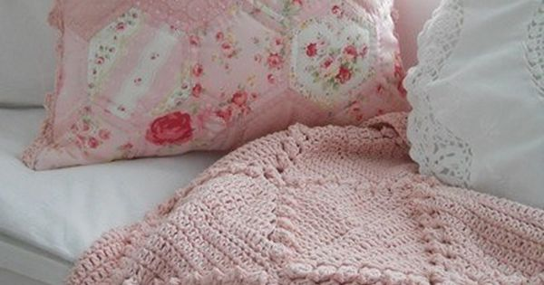 Pretty Soft Pink Crochet Throw And Pillows Love The