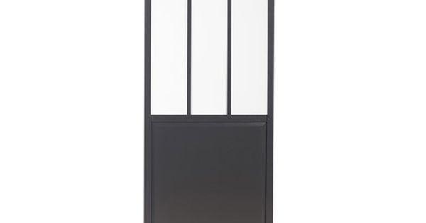 Porte coulissante verre tremp rev tu atelier artens 204 x 73 cm cuisine - Porte coulissante en verre 73 cm ...