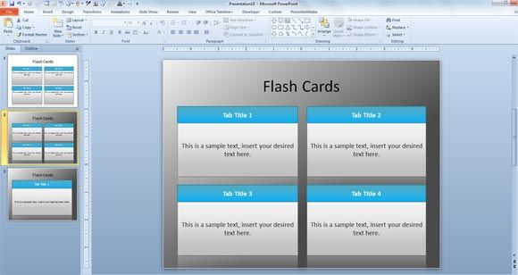 Flash Card Powerpoint Template For E Learning Games For Students Flash Card Template Flashcards Make Flash Cards