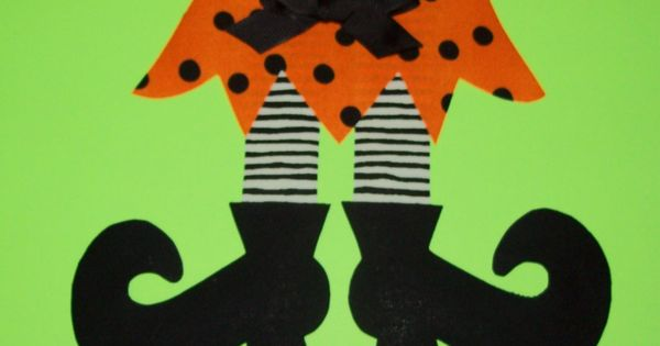 Fabric Applique PDF TEMPLATE Pattern ONLY Witch Skirt Legs And Shoes...New. $2.00,