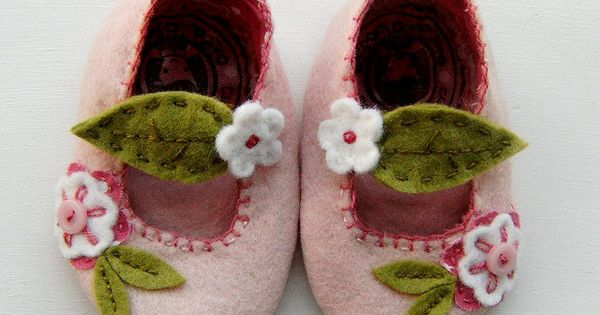 Kid`s shoes - Pink Cherry Blossom Mary Janes1