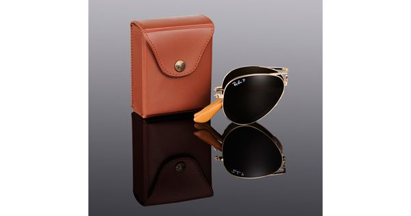 Ray Ban | Folding Aviator Ultra in Brown