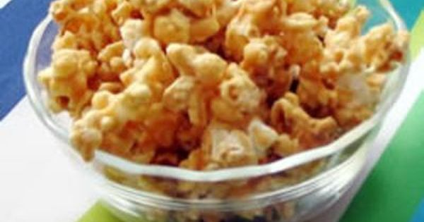 Peanut Butter Popcorn - 2 (3.5 ounce) packages microwave popcorn, popped 1/2