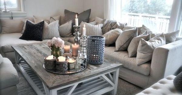 Livingroom salon couleur pale gris blanc beige - Salon blanc beige ...