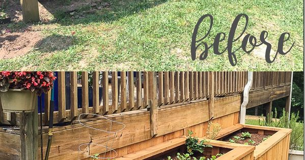 Backyard Landscaping With Raised Garden Beds What A Great Idea To Enclose The Underside Of A