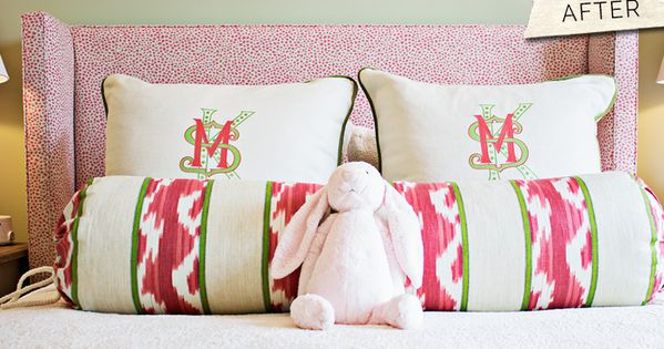 gramercy home monogrammed pillows     love the three different fonts
