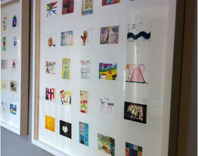 Love this! Scan children's art work and then print out in smaller