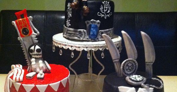 Black Butler Kuroshitsuji Birthday Mini Cakes Birthdays