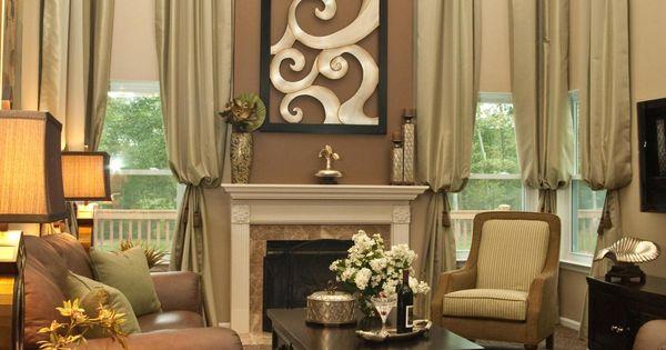 Sal n en tonos marrones decoracion sal n sala de estar for Cortinas salon marron