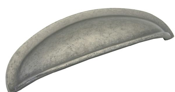 Avante Hardware Pewter Collection Kitchen Cabinet Cup Cup Pull 3