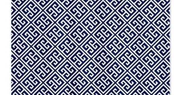 Blue Greek Key Pattern Shower Curtain 3804 Bathroom A Pinterest