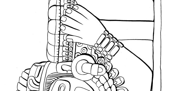 aztec murals coloring pages - photo#22