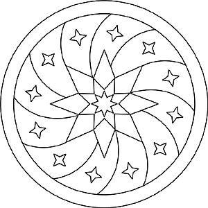 Mandala Mit Sternen Zum Entspannen Mandalas Mandala Vorlagen
