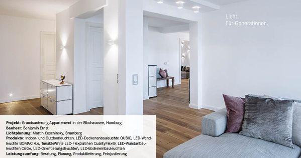 Privathaus Elbchausse Beleuchtungsprojekt Brumberg Haus Beleuchtung Wohnen