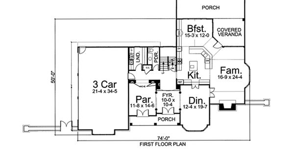 Greek Revival Tudor House Plan 72032 Bedrooms House And