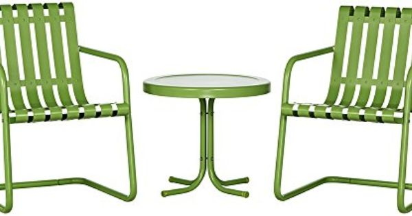 Gracie 3 Piece Metal Outdoor Conversation Seating Set 2 Chairs And Side Table Oasis Green Crosley Http Outdoor Seating Set Outdoor Chairs Crosley Furniture