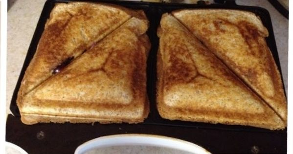 Blueberry Breakfast Grilled Cheese ~ Fill the sandwich with cream cheese and