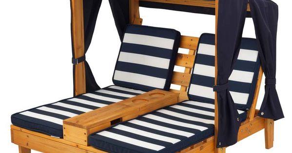 Double chaise longue enfant avec porte gobelets pour l for Chaise longue pour exterieur