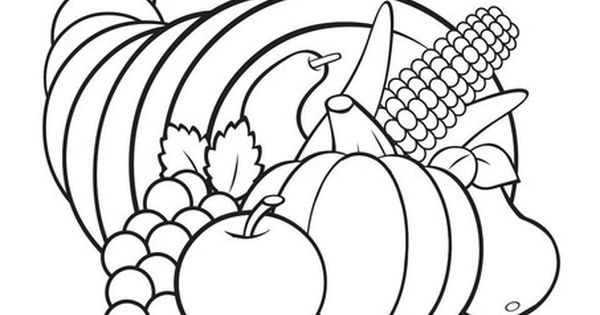 turkey and cornucopia coloring pages | the cornucopia is a sign of hospitality fisher price the ...