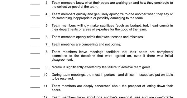 Custom The Five Dysfunctions of a Team Essay