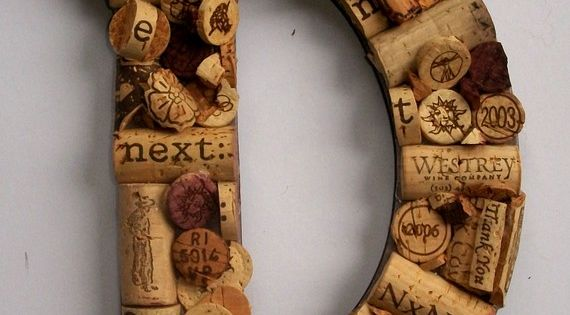 wine bottle corks Letter