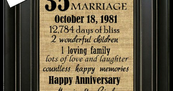 35 Year Wedding Anniversary Gifts: 35th Wedding Anniversary 35th Anniversary Gifts By