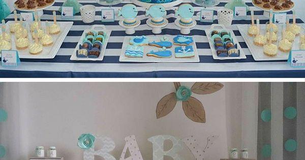 baby shower gar 231 on 10 id 233 es d 233 co tout en bleu shower anniversaire enfant