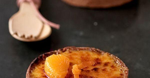 tangerine creme brulees tartelettes | Yummy shit | Pinterest