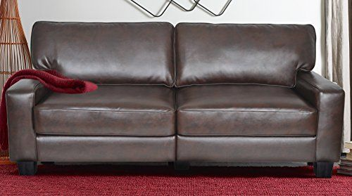 Serta Rta Palisades Collection 78 Bonded Leather Sofa In Chestnut Brown Cr43595p Want To Know More Click On Brown Leather Couch Couch Set Upholstered Sofa