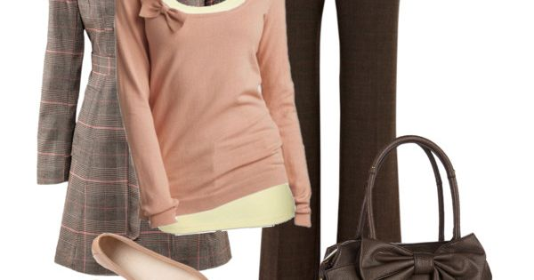 Pink & brown; fall outfit