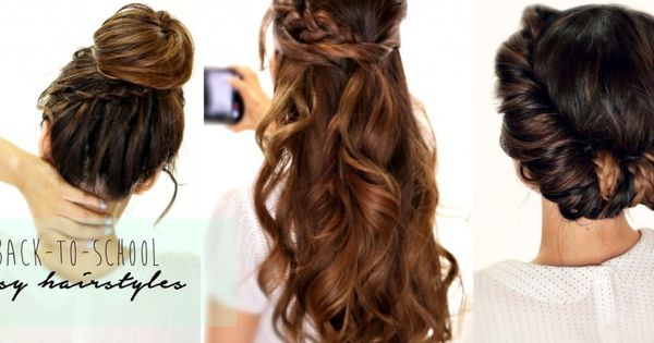 5 Minute Hairstyles Braids: 5 Minute Hair Tutorial Video: How To Create 3 Easy Back To