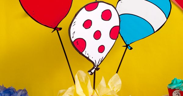 Dr. Seuss Party Centerpiece DIY tutorial that is lightning quick to make!