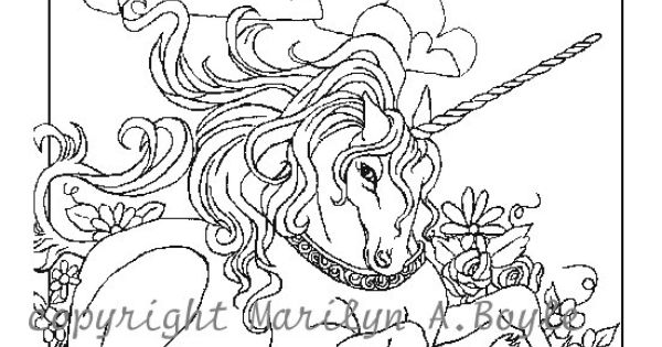 Advanced Unicorn Coloring Pages : Coloring colouring printable adult advanced detailed